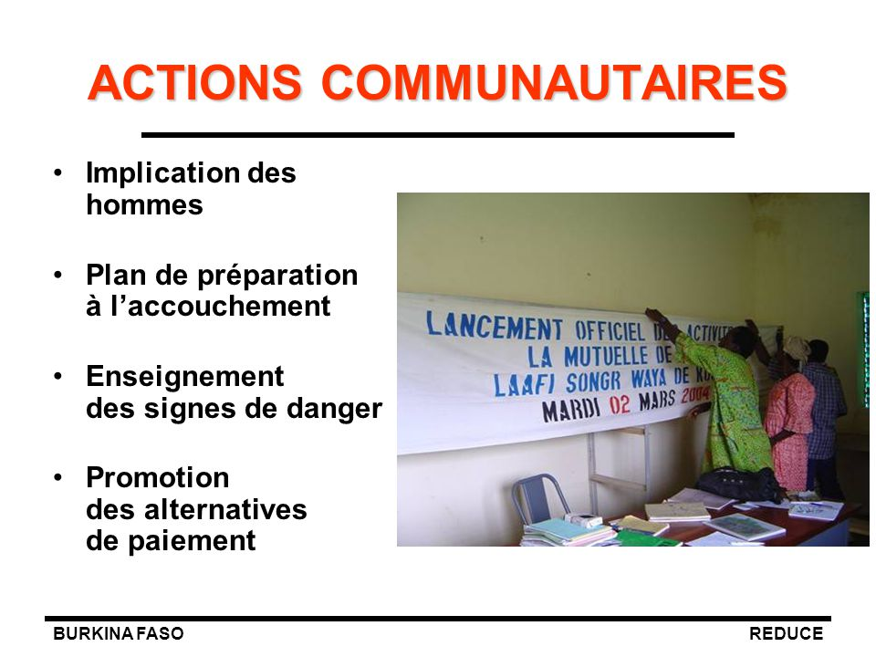 ACTIONS COMMUNAUTAIRES