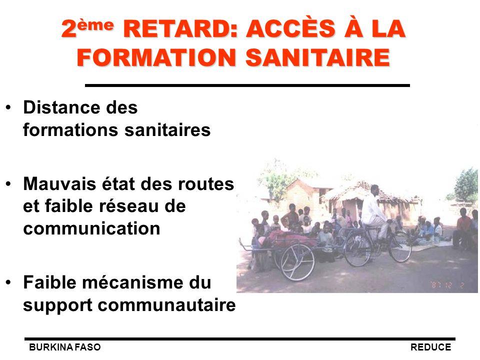 2ème RETARD: ACCÈS À LA FORMATION SANITAIRE