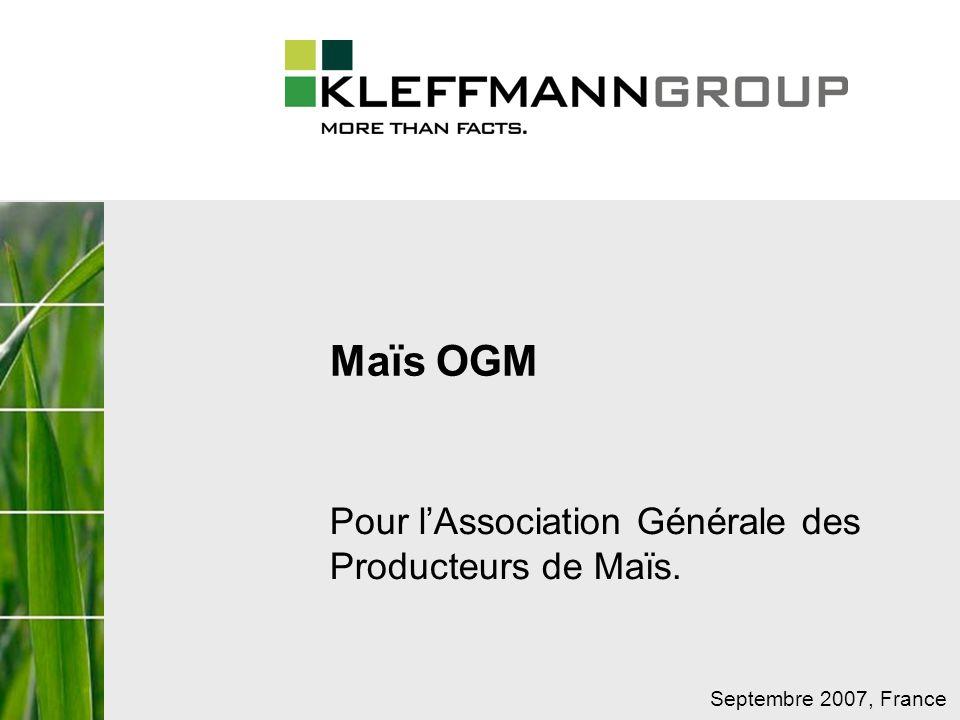 Pour l'Association Générale des Producteurs de Maïs.