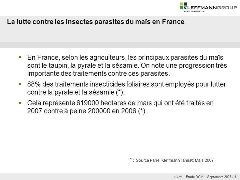 La lutte contre les insectes parasites du maïs en France