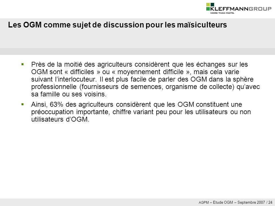 Les OGM comme sujet de discussion pour les maïsiculteurs