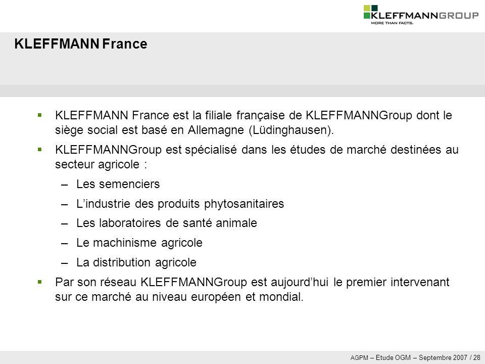 KLEFFMANN France KLEFFMANN France est la filiale française de KLEFFMANNGroup dont le siège social est basé en Allemagne (Lüdinghausen).