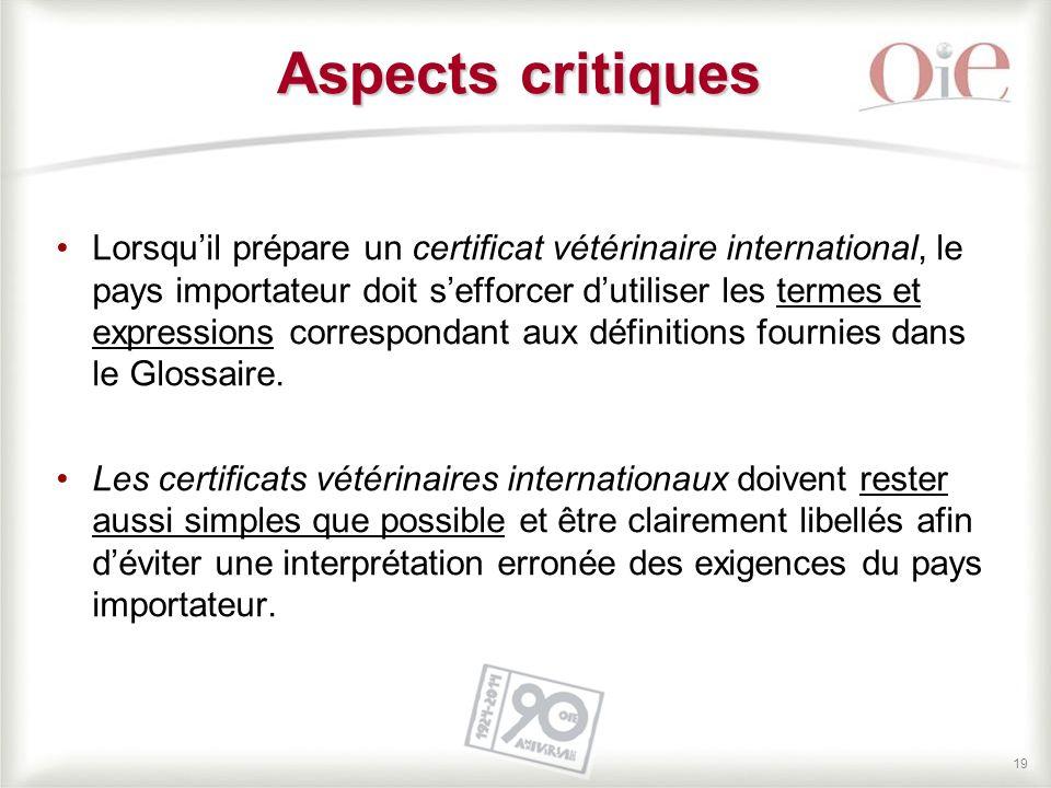 Aspects critiques