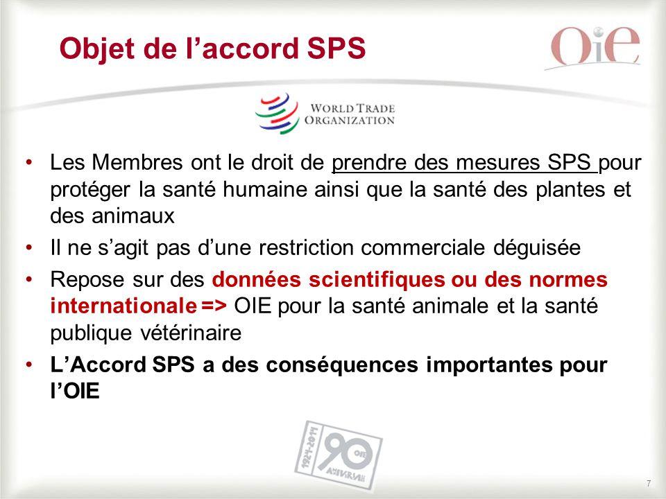 Objet de l'accord SPS