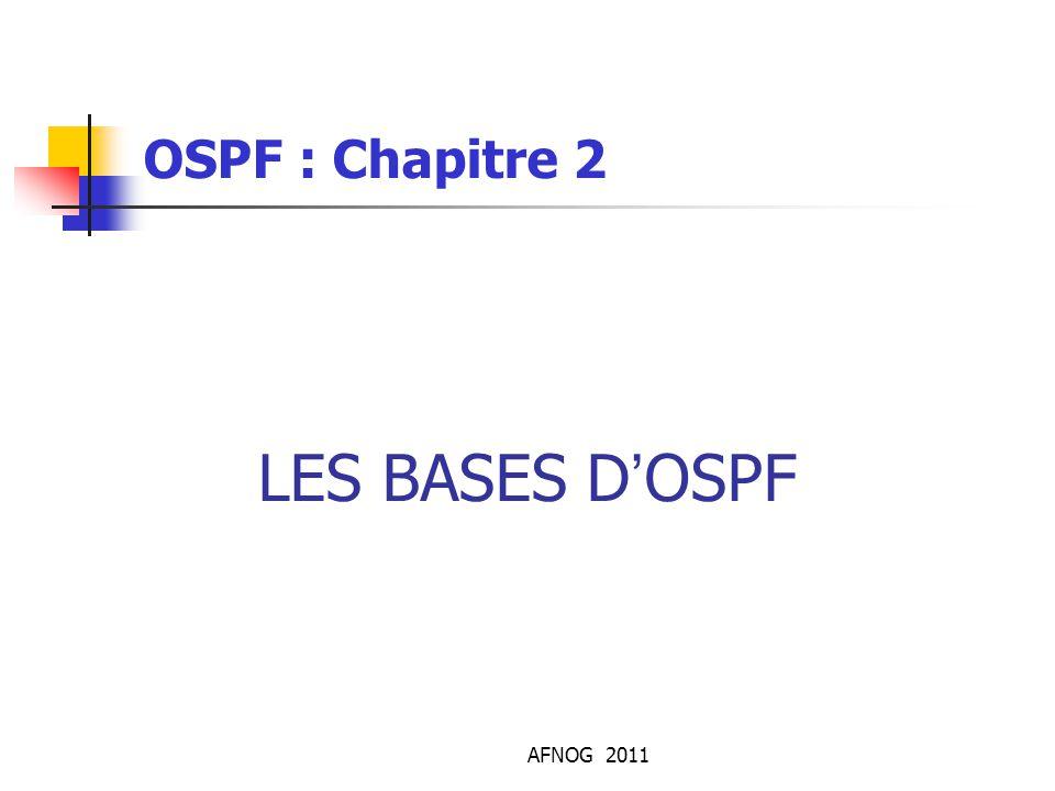 OSPF : Chapitre 2 LES BASES D'OSPF AFNOG 2011