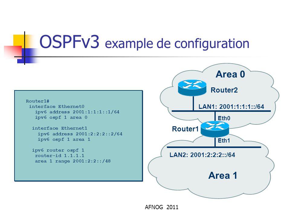 OSPFv3 example de configuration