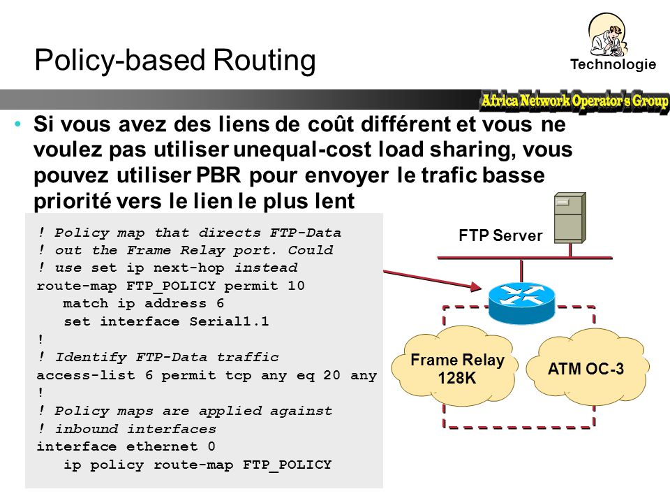 Technologie Policy-based Routing.
