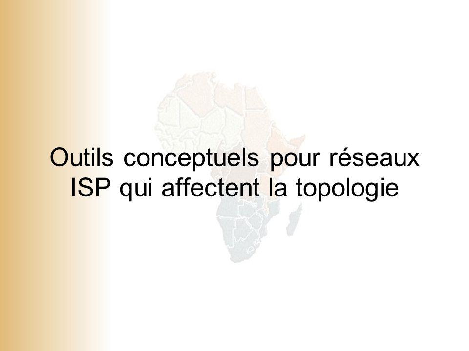 Outils conceptuels pour réseaux ISP qui affectent la topologie