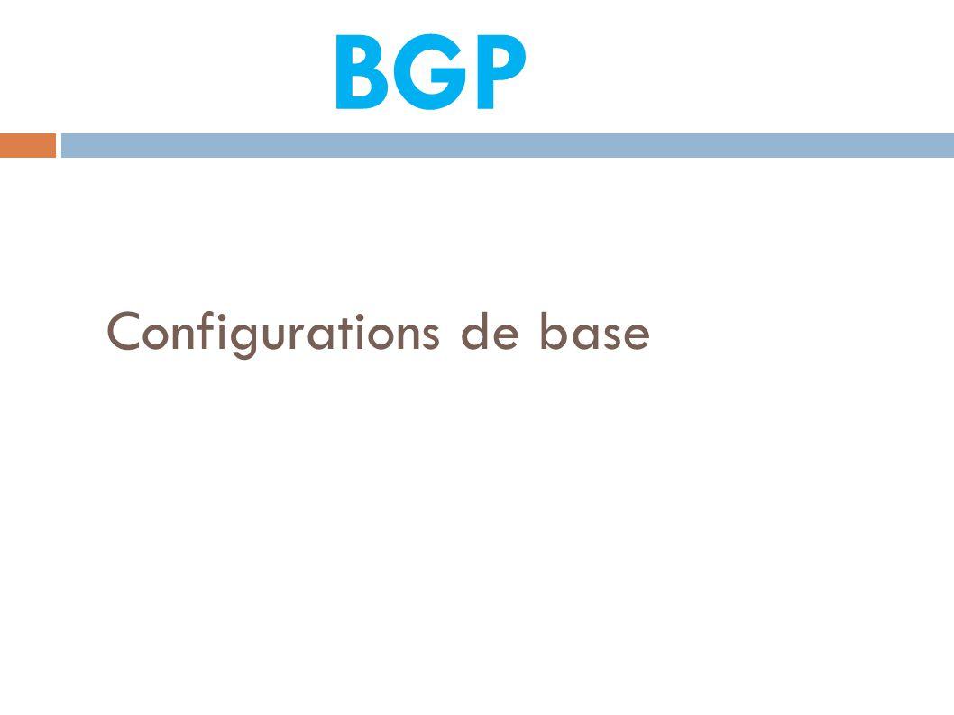 Configurations de base