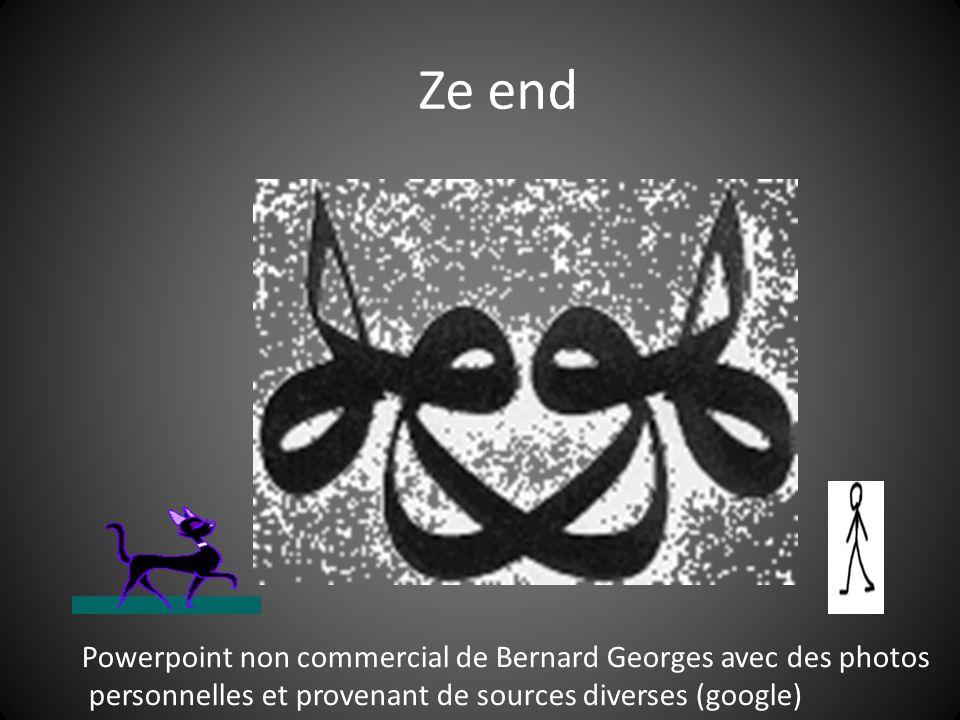 Ze end Powerpoint non commercial de Bernard Georges avec des photos