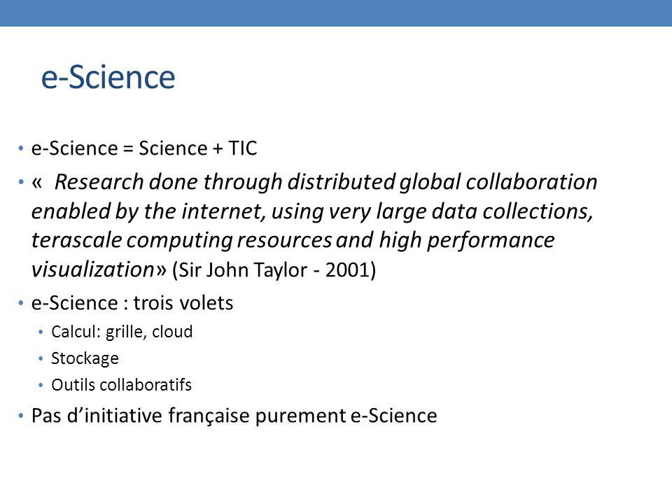 e-Science e-Science = Science + TIC.