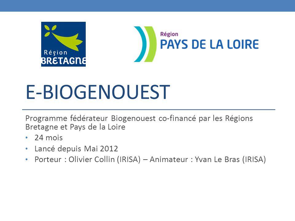 E-Biogenouest Programme fédérateur Biogenouest co-financé par les Régions Bretagne et Pays de la Loire.