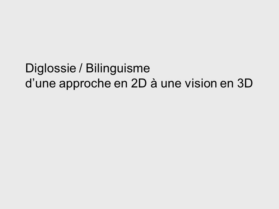 Diglossie / Bilinguisme