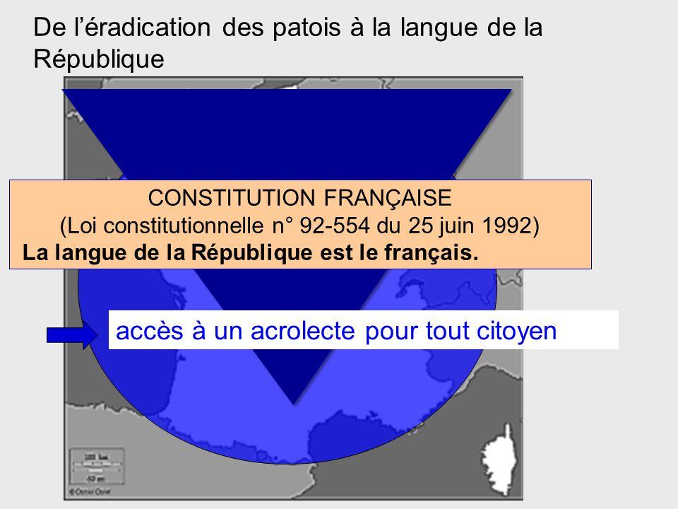 De l'éradication des patois à la langue de la République