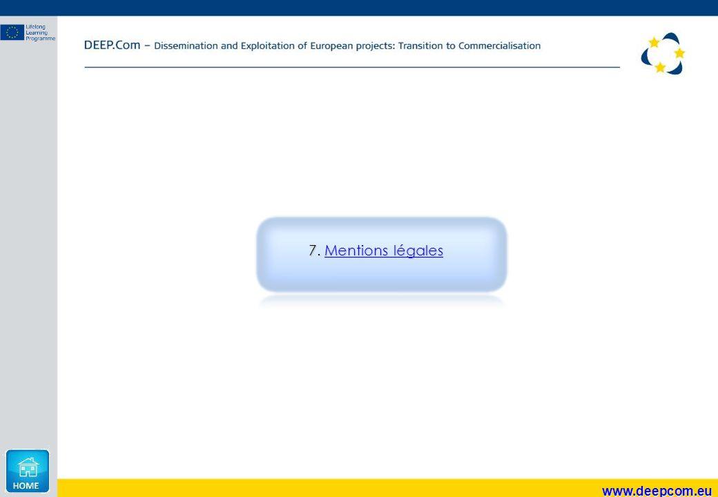 7. Mentions légales www.deepcom.eu