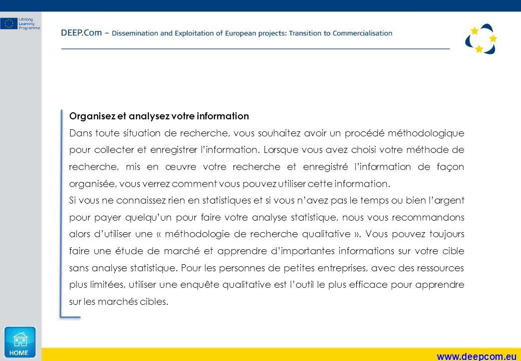 Organisez et analysez votre information