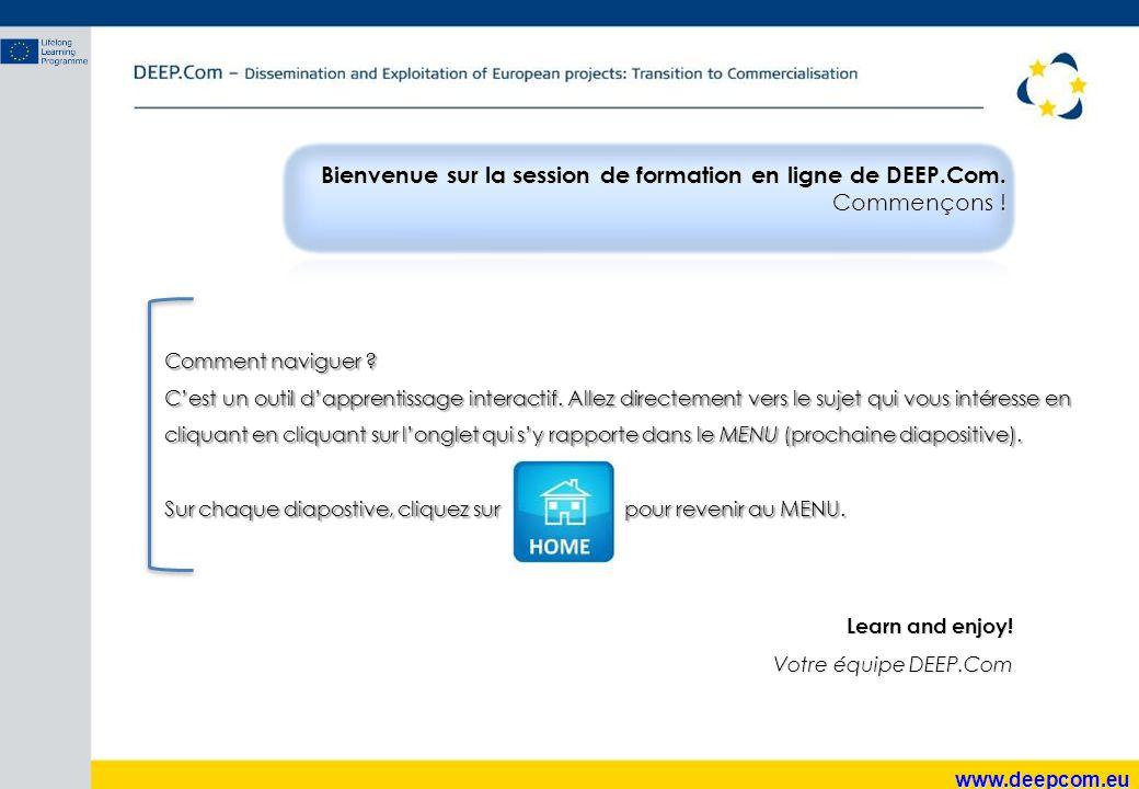Bienvenue sur la session de formation en ligne de DEEP.Com.