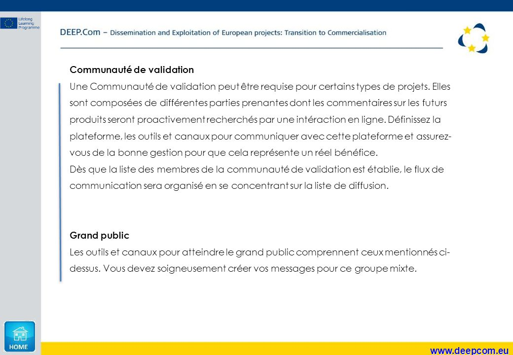 Communauté de validation