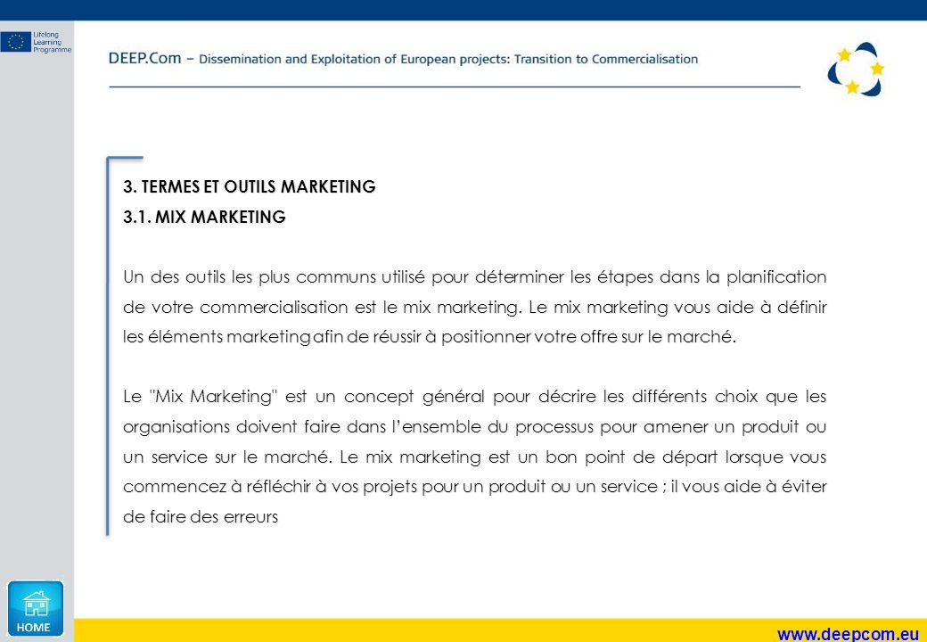 3. TERMES ET OUTILS MARKETING