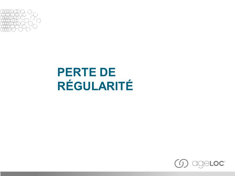 PERTE DE RÉGULARITÉ 25
