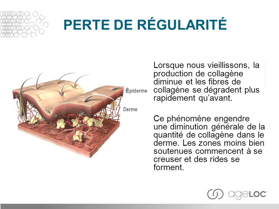 PERTE DE RÉGULARITÉ