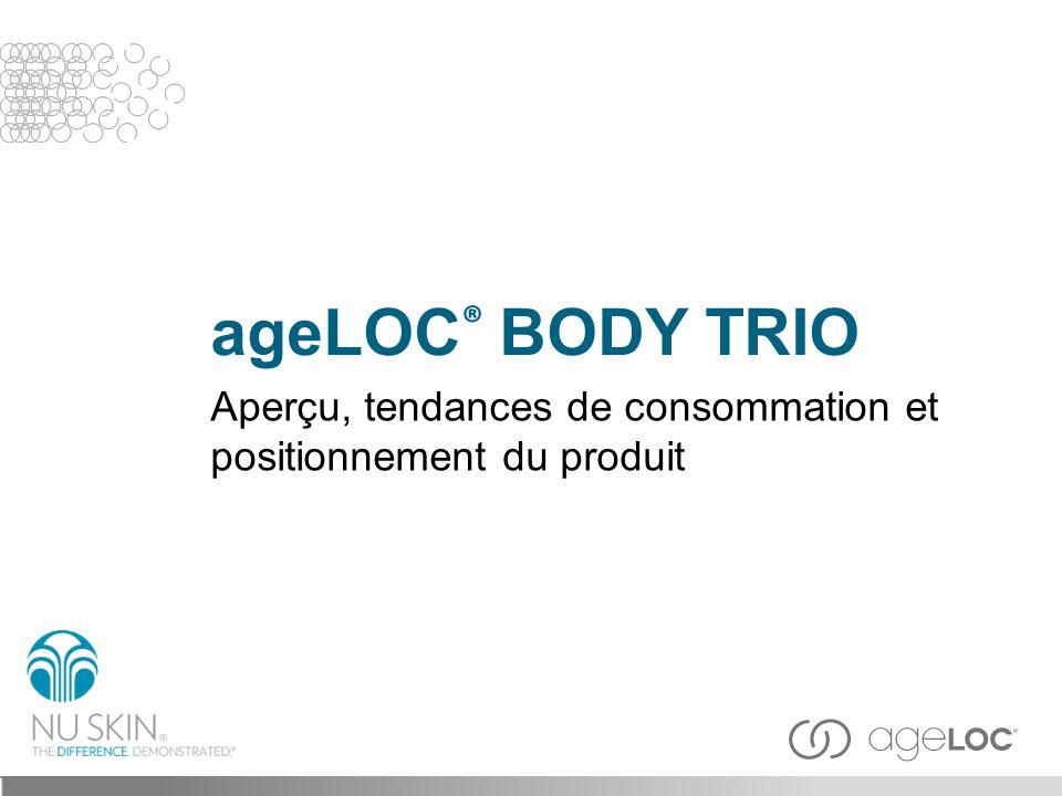 ageLOC® BODY TRIO Aperçu, tendances de consommation et positionnement du produit Title slide 3