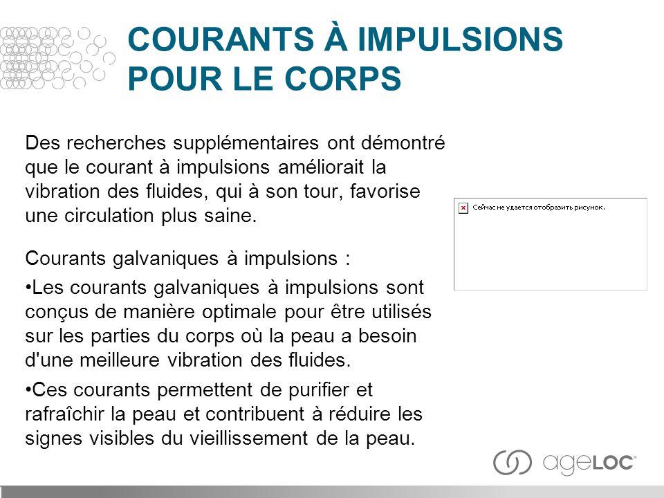 COURANTS À IMPULSIONS POUR LE CORPS