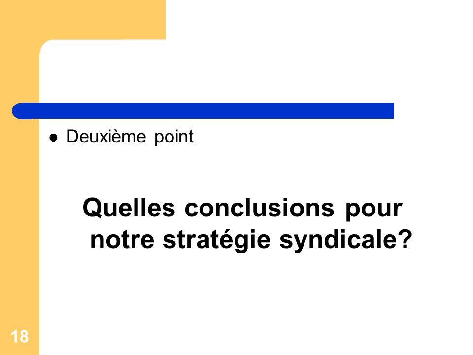 Quelles conclusions pour notre stratégie syndicale