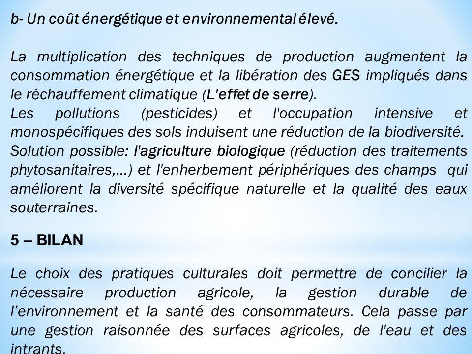 b- Un coût énergétique et environnemental élevé.