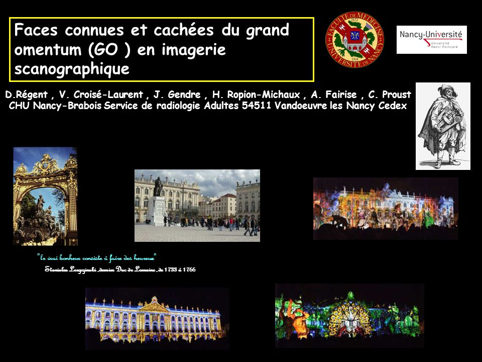 Faces connues et cachées du grand omentum (GO ) en imagerie scanographique