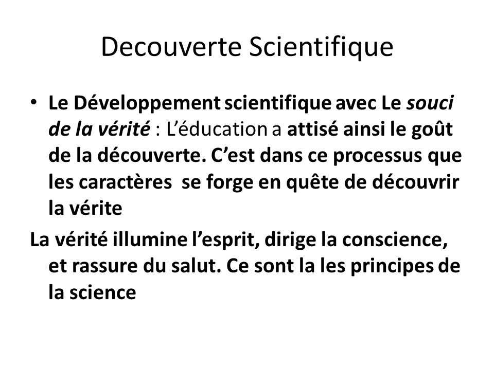 Decouverte Scientifique