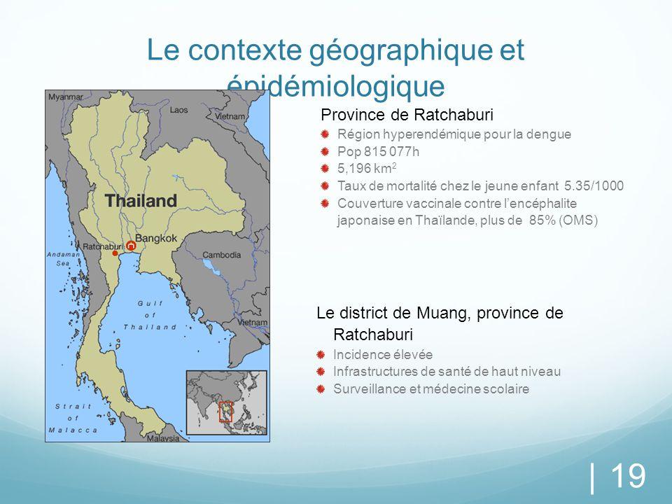 Le contexte géographique et épidémiologique