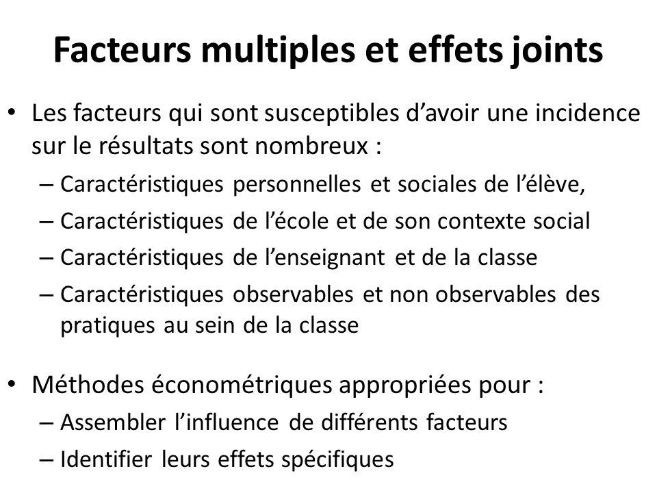 Facteurs multiples et effets joints