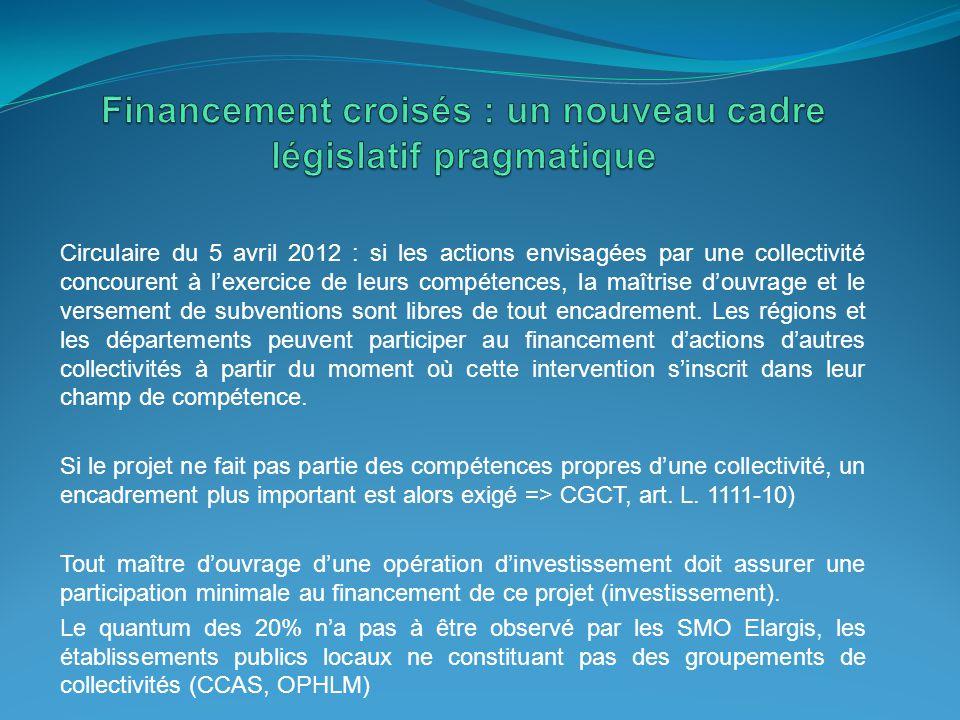 Financement croisés : un nouveau cadre législatif pragmatique