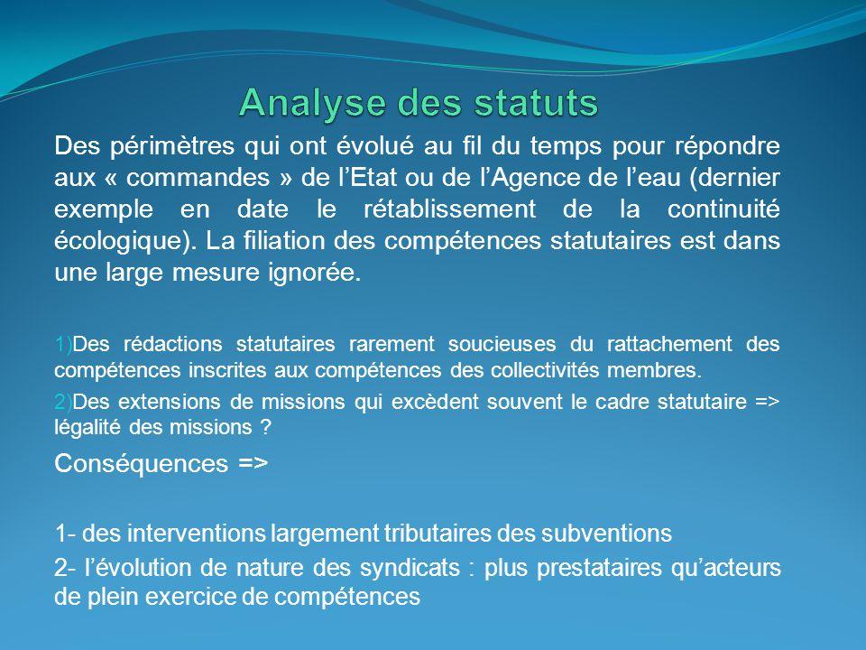 Analyse des statuts