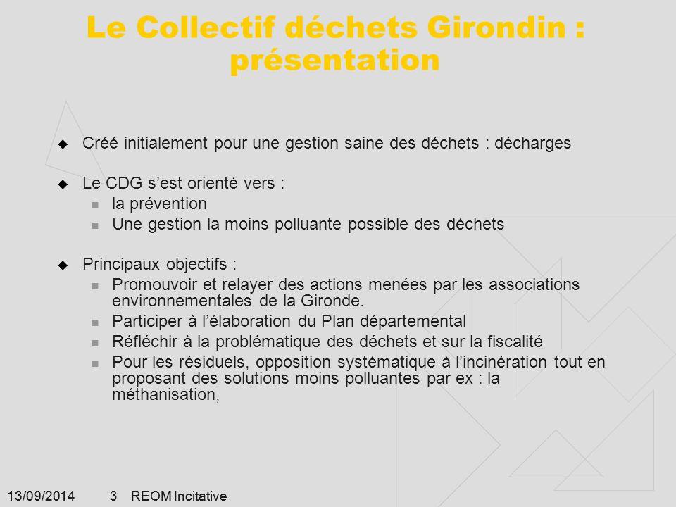 Le Collectif déchets Girondin : présentation