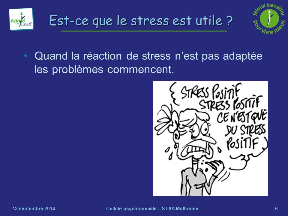 Est-ce que le stress est utile