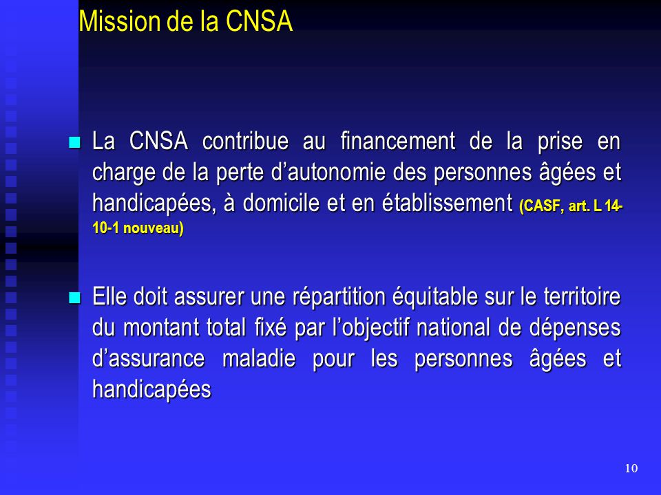 Mission de la CNSA
