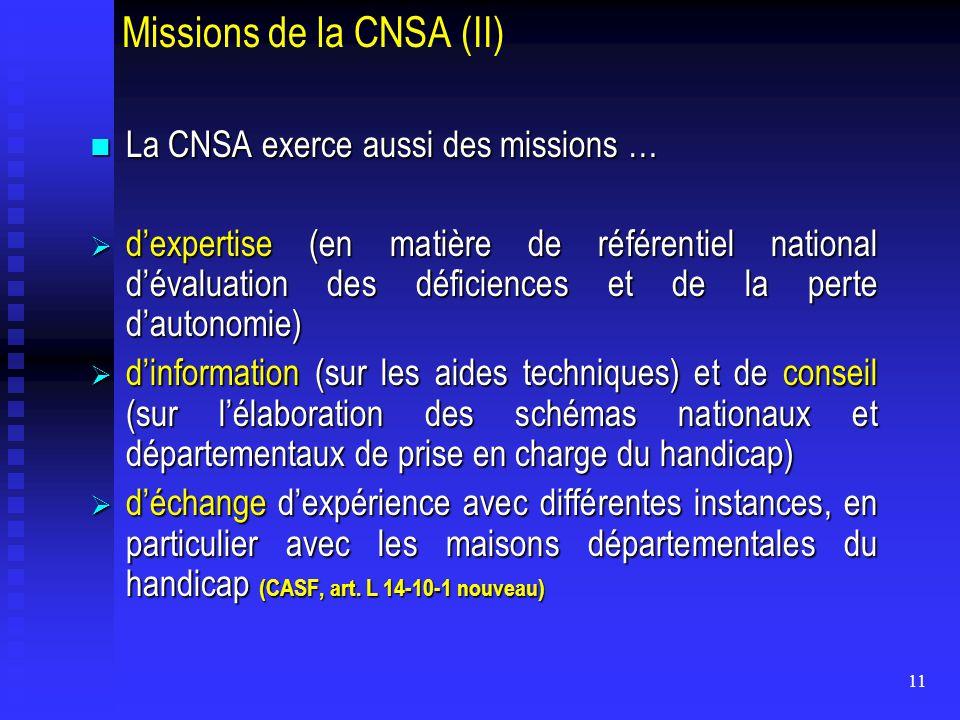 Missions de la CNSA (II)