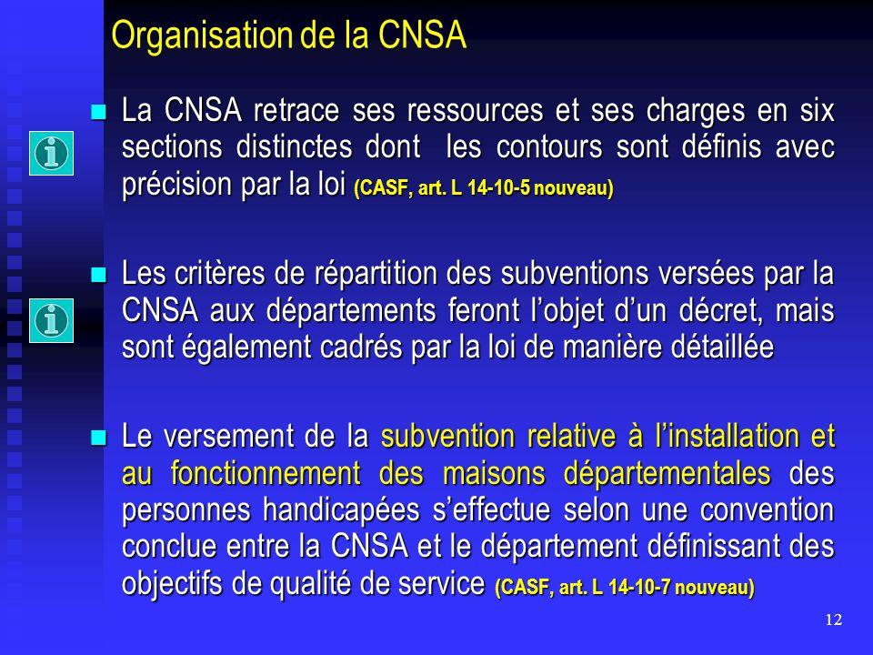 Organisation de la CNSA