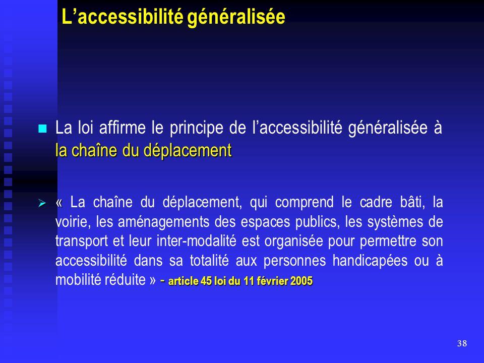 L'accessibilité généralisée