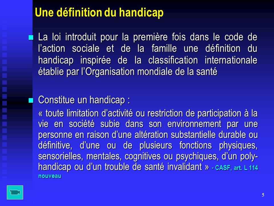 Une définition du handicap