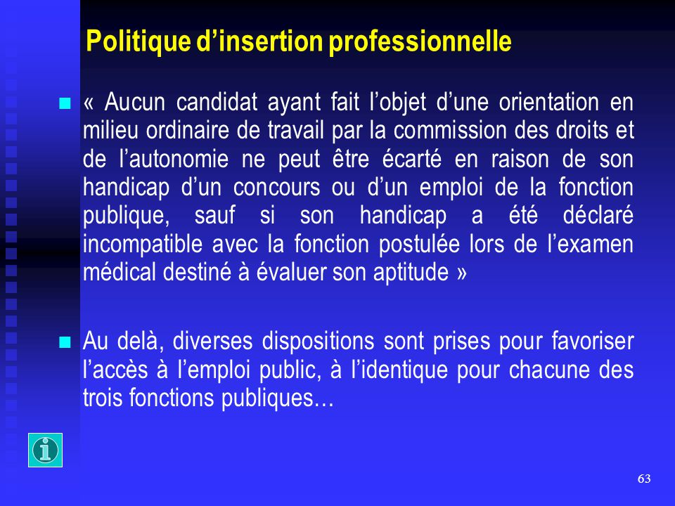 Politique d'insertion professionnelle