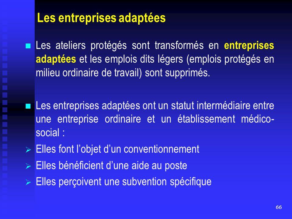 Les entreprises adaptées