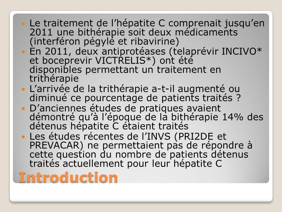 Le traitement de l'hépatite C comprenait jusqu'en 2011 une bithérapie soit deux médicaments (interféron pégylé et ribavirine)