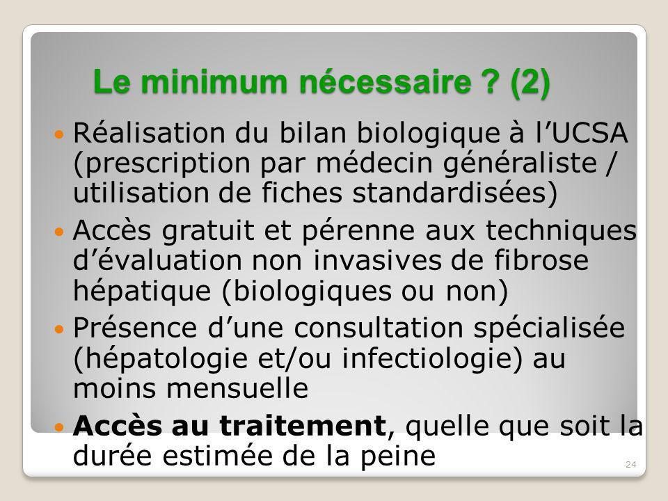 Le minimum nécessaire (2)