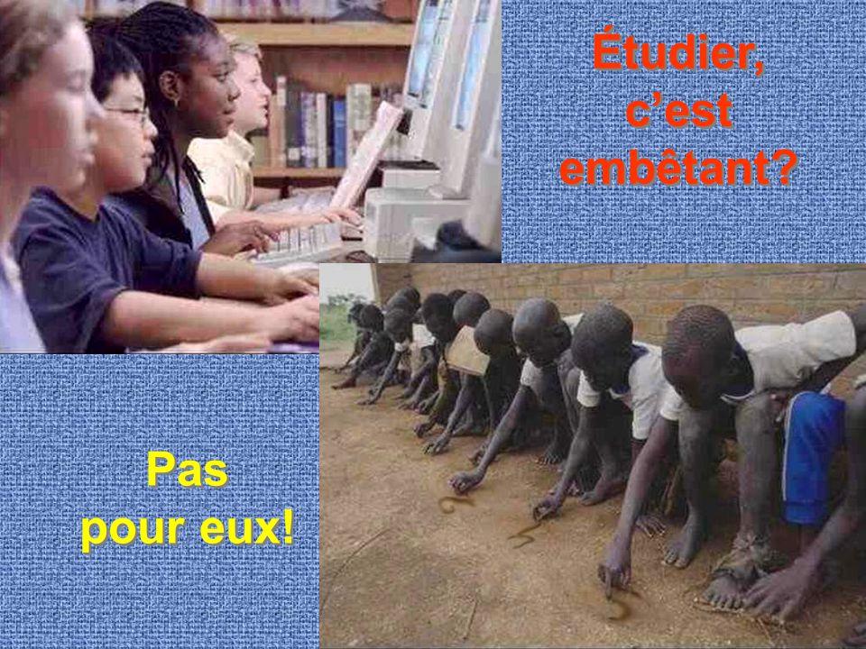 Étudier, c'est embêtant