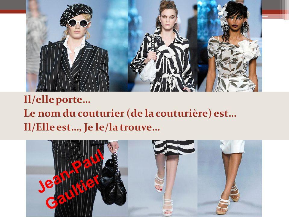 Jean-Paul Gaultier Il/elle porte…