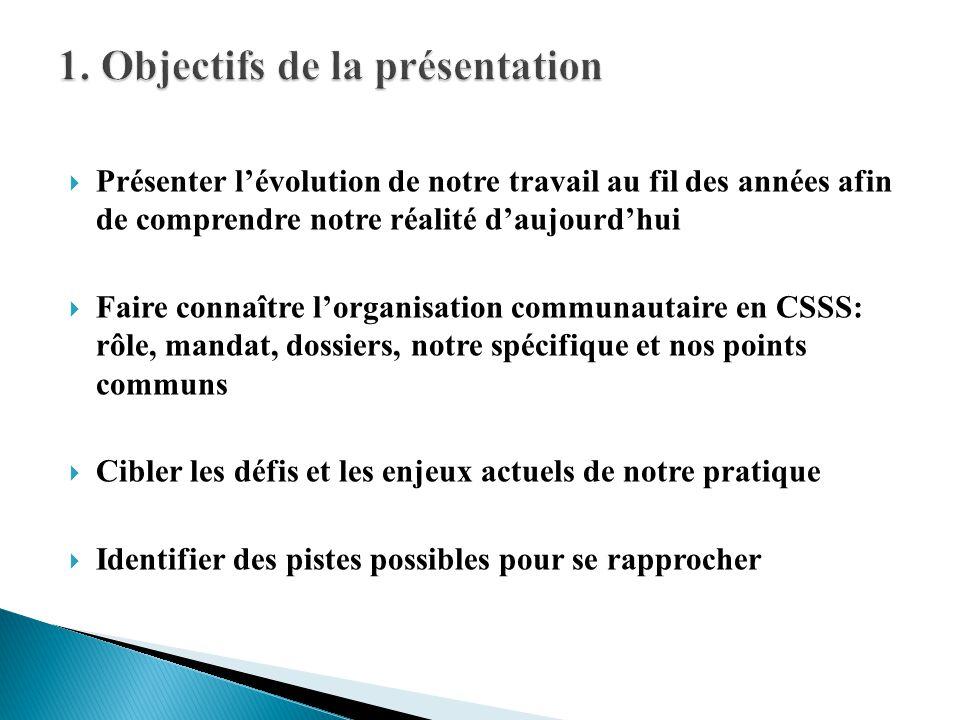1. Objectifs de la présentation
