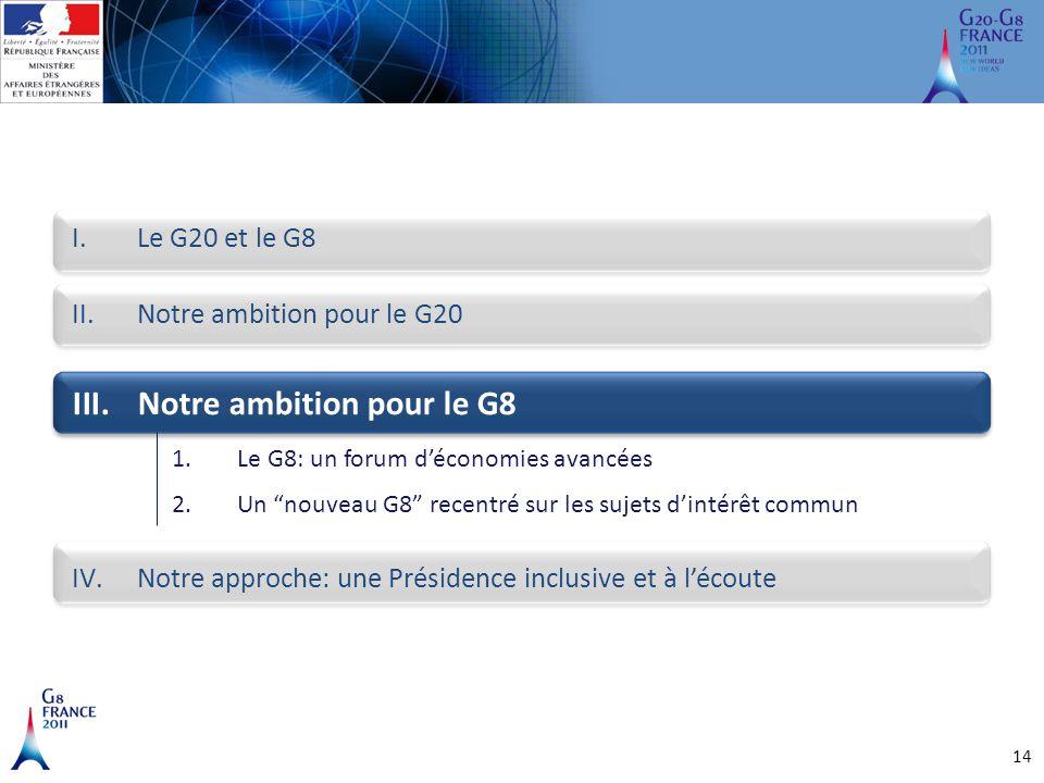 Notre ambition pour le G8